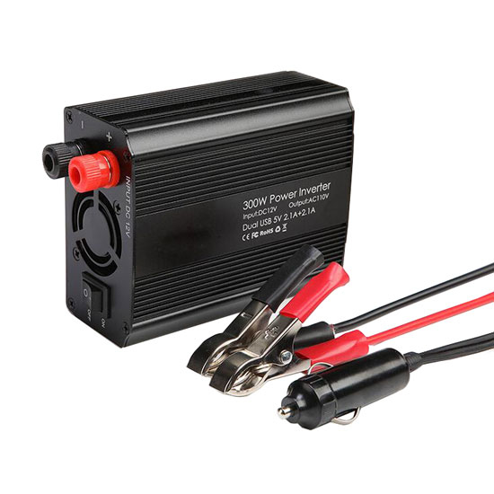 300W Car Power Inverter, DC 12V to AC 110V/220V