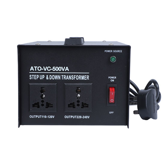 Step Down Voltage converter transformer from 220 V to 110 V max power 500 W