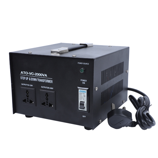 2000 Watt Voltage Converter, 110/120v to 220/240v