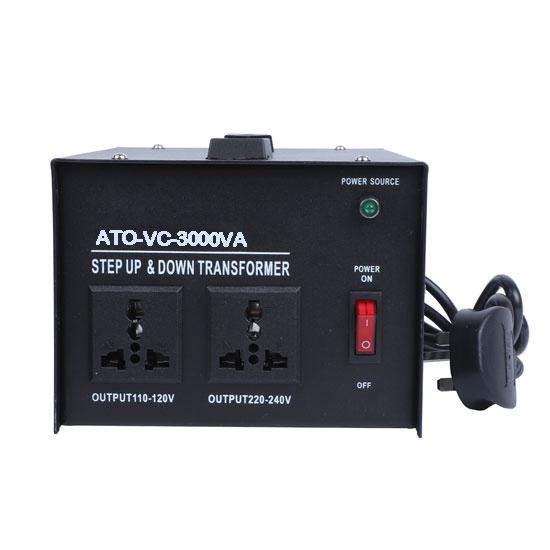 3000 Watt Voltage Converter, 220/240v to 110/120v
