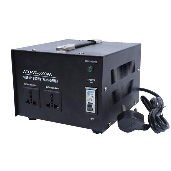 5000 Watt Voltage Converter, 110/120v to 220/240v
