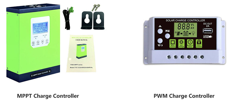 MPPT and PWM solar charge controller