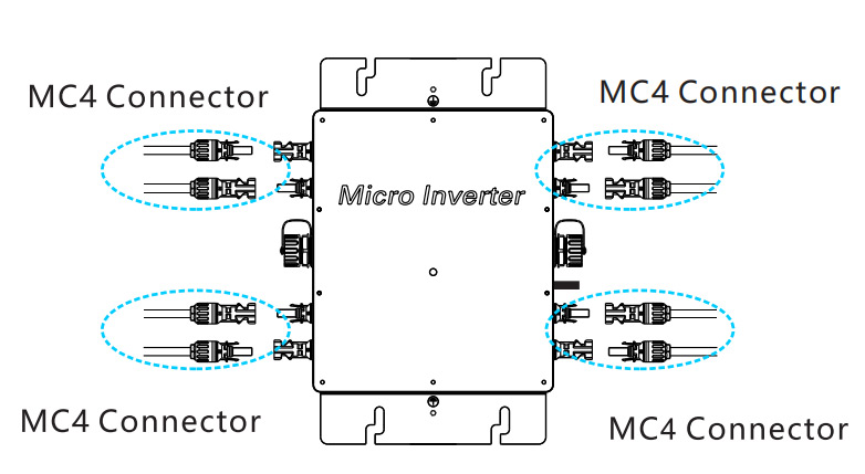 Second step installation of micro inverter