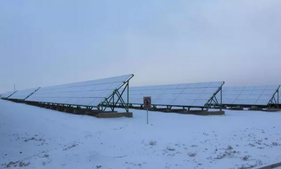 Solar panels in extreme weather