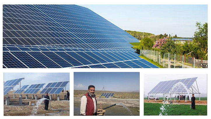 Solar-water pump system for agricultural irrigation